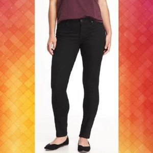 Old navy black curvy mid rise jeans